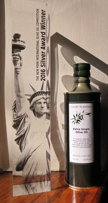Casale Sonnino Extra Virgin Olive Oil -- Silver Award Winner