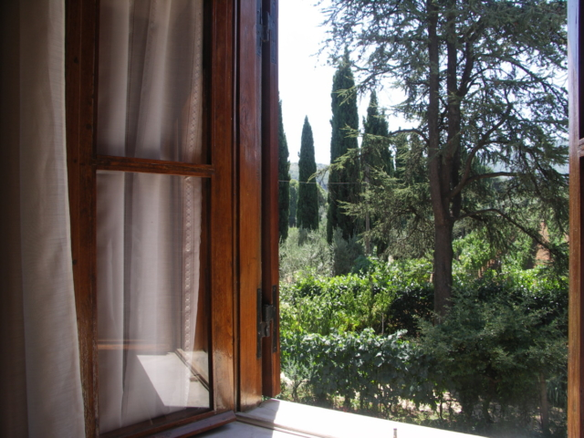 Casale Sonnino view from bedroom window