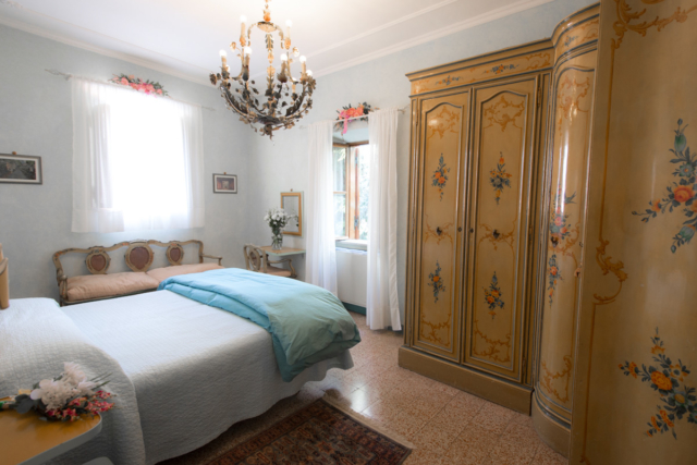 Bedroom with Painted Armoire
